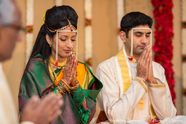 Indian wedding ceremony groom bride