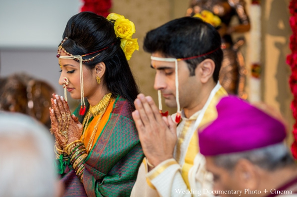 Indian wedding ceremony groom traditional bride