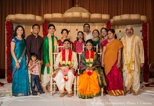 Indian wedding ceremony portrait family party