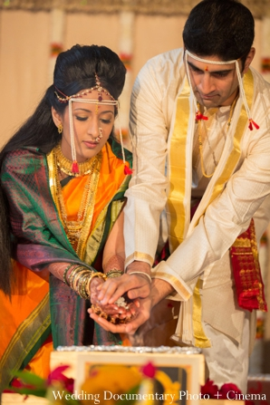 Indian wedding ceremony traditional bride groom detail