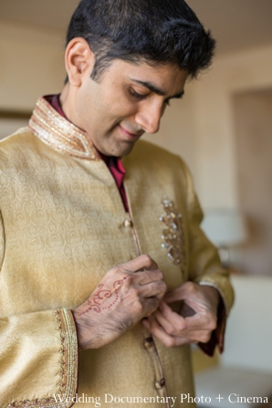 Indian wedding getting ready groom traditional