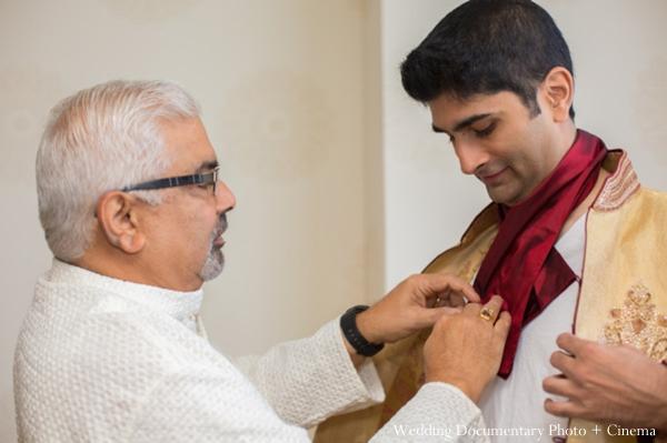 Indian wedding getting ready groom