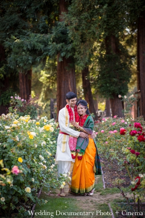 Indian wedding portrait bride groom inspiration garden