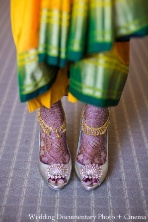 Indian wedding portrait bride mehndi feet