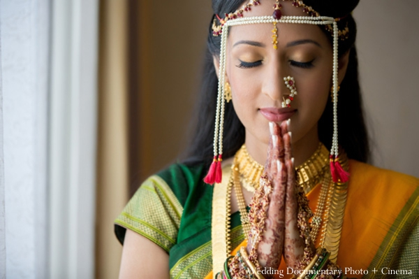indian wedding portrait bride traditional tikka mehndi