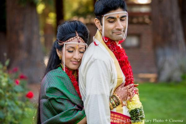 Indian wedding portrait traditional bride groom