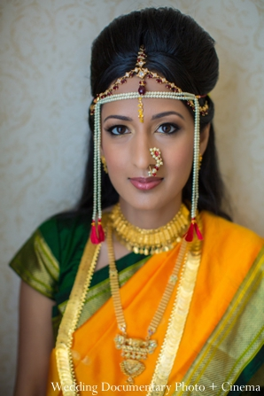Indian wedding portrait traditional bride