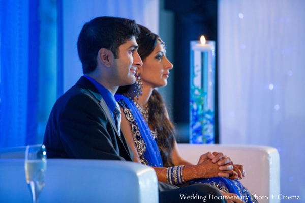 Indian wedding reception bride groom