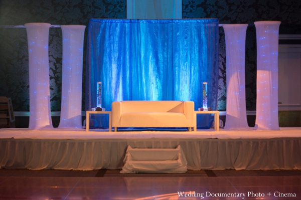 Indian wedding reception decor lighting