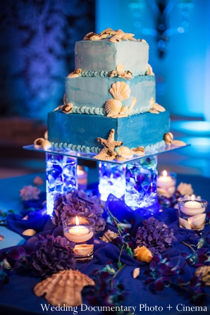 Indian wedding reception detail cake
