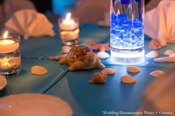 Indian wedding reception detail decor theme
