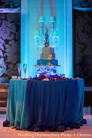 Indian wedding reception detail decor