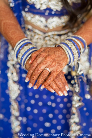 Indian wedding reception getting ready bride tikka
