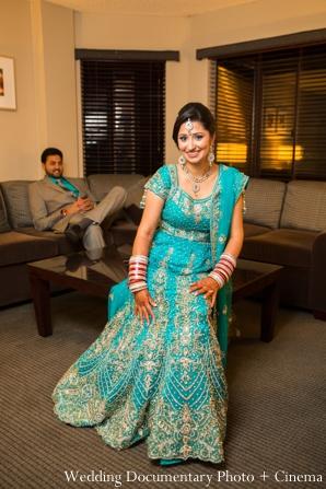 Indian wedding bride reception lengha in Concord, California Indian Wedding by Wedding Documentary Photo + Cinema