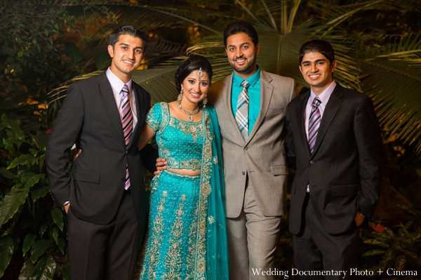 Indian wedding bride groom portrait family in Concord, California Indian Wedding by Wedding Documentary Photo + Cinema