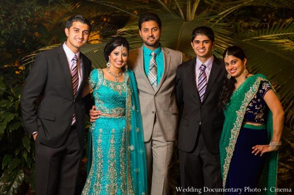 Indian wedding bride groom portrait family in Concord, California Indian Wedding by Wedding Documentary Photo + Cinema