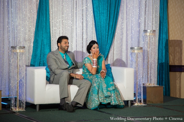 Indian wedding bride groom reception in Concord, California Indian Wedding by Wedding Documentary Photo + Cinema
