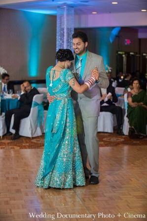 Indian wedding bride groom dancing reception in Concord, California Indian Wedding by Wedding Documentary Photo + Cinema