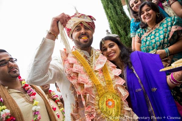 Indian wedding baraat grooms celebration in Concord, California Indian Wedding by Wedding Documentary Photo + Cinema