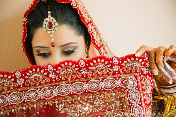 Indian wedding bridal lengha detailed traditional in Concord, California Indian Wedding by Wedding Documentary Photo + Cinema