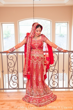Indian wedding bridal lengha inspiration in Concord, California Indian Wedding by Wedding Documentary Photo + Cinema