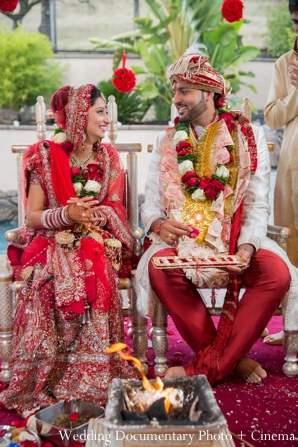 Indian wedding bride groom ceremony fire traditional in Concord, California Indian Wedding by Wedding Documentary Photo + Cinema
