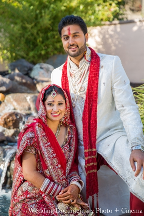Indian wedding bride groom traditional dress in Concord, California Indian Wedding by Wedding Documentary Photo + Cinema