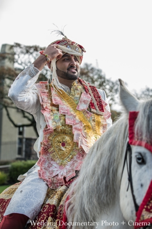Indian wedding groom baraat horse traditional in Concord, California Indian Wedding by Wedding Documentary Photo + Cinema