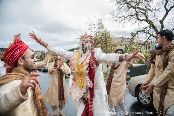 Indian wedding groom dancing celebration in Concord, California Indian Wedding by Wedding Documentary Photo + Cinema