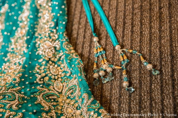 Indian wedding lengha detail reception in Concord, California Indian Wedding by Wedding Documentary Photo + Cinema