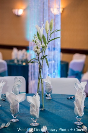 blue,Floral & Decor,Planning & Design,Wedding Documentary Photo + Cinema,indian wedding reception,reception floral,wedding reception decor,floral and decor inspiration