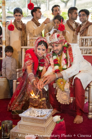red,gold,ceremony,Wedding Documentary Photo + Cinema,indian wedding ceremony,traditional customs and rituals,indian wedding traditions,wedding ceremony customs
