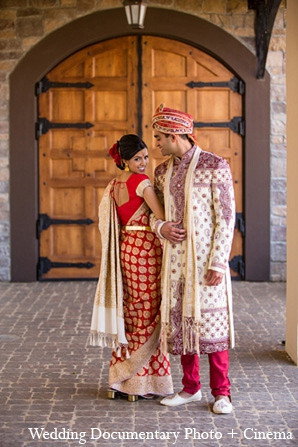 Indian portraits wedding bride groom in Pleasanton, California Indian Wedding by Wedding Documentary Photo + Cinema