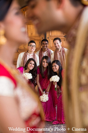 Indian wedding bridal party bride groom in Pleasanton, California Indian Wedding by Wedding Documentary Photo + Cinema