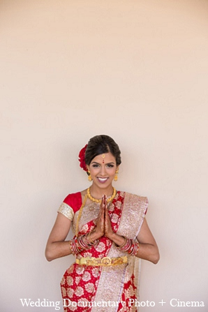 Indian wedding bride portrait hair makeup in Pleasanton, California Indian Wedding by Wedding Documentary Photo + Cinema