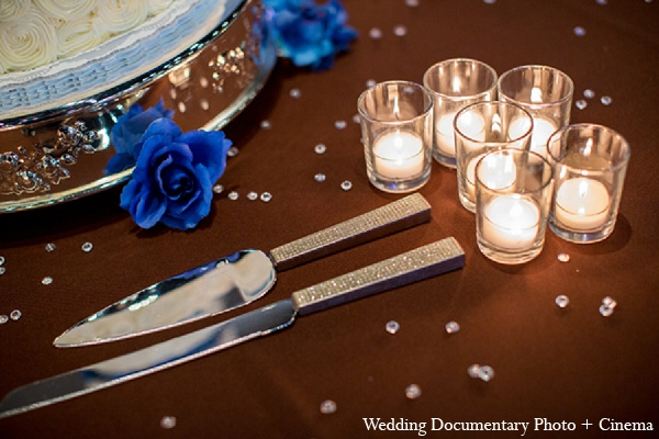 Indian wedding decor candles reception in Pleasanton, California Indian Wedding by Wedding Documentary Photo + Cinema