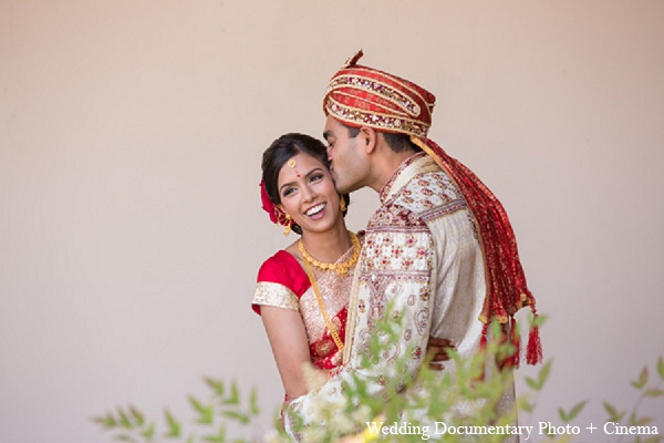 Indian wedding first look bride groom in Pleasanton, California Indian Wedding by Wedding Documentary Photo + Cinema
