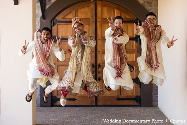 Indian wedding groom groomsmen photography in Pleasanton, California Indian Wedding by Wedding Documentary Photo + Cinema