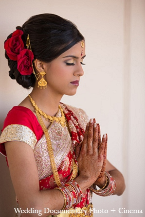 Indian wedding portraits bride makeup hair in Pleasanton, California Indian Wedding by Wedding Documentary Photo + Cinema