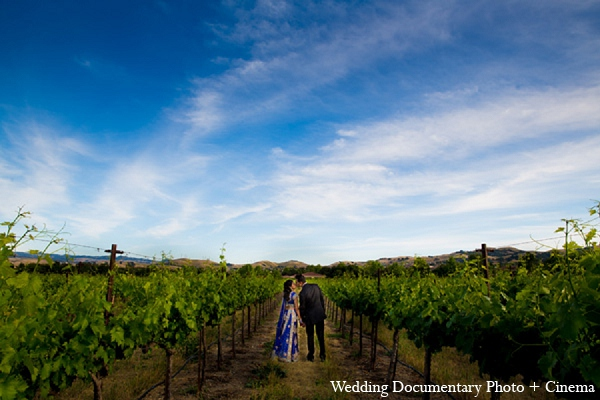 Indian wedding portraits vineyard bride groom in Pleasanton, California Indian Wedding by Wedding Documentary Photo + Cinema