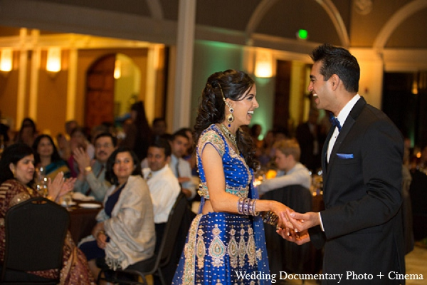 Indian wedding reception bride groom dance in Pleasanton, California Indian Wedding by Wedding Documentary Photo + Cinema