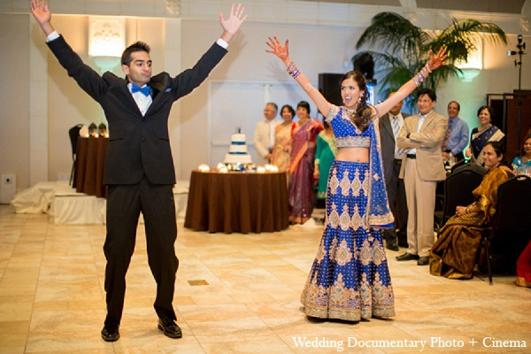 Indian-wedding-reception-bride-groom in Pleasanton, California Indian Wedding by Wedding Documentary Photo + Cinema