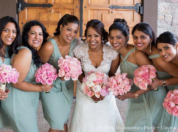 Indian wedding bride bridesmaids in Pleasanton, CA Indian Wedding by Wedding Documentary Photo + Cinema