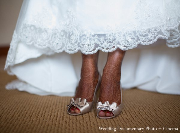 Indian wedding bride shoes getting ready in Pleasanton, CA Indian Wedding by Wedding Documentary Photo + Cinema