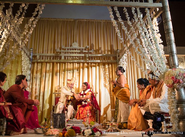 Indian wedding ceremony mandap bride groom in Pleasanton, CA Indian Wedding by Wedding Documentary Photo + Cinema