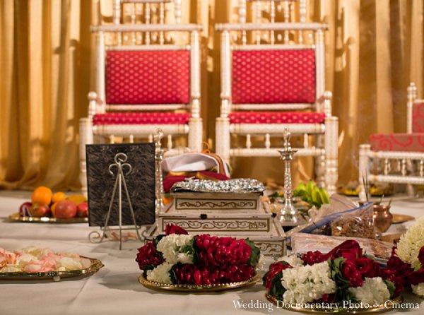 Indian wedding decor stage mandap in Pleasanton, CA Indian Wedding by Wedding Documentary Photo + Cinema
