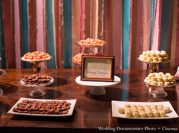 Indian wedding dessert table reception in Pleasanton, CA Indian Wedding by Wedding Documentary Photo + Cinema