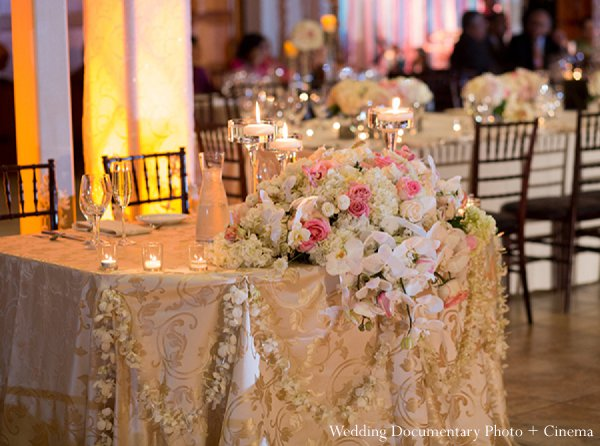 Indian wedding floral reception style in Pleasanton, CA Indian Wedding by Wedding Documentary Photo + Cinema