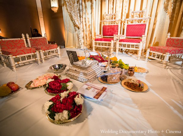 Indian wedding stage mandap decor in Pleasanton, CA Indian Wedding by Wedding Documentary Photo + Cinema