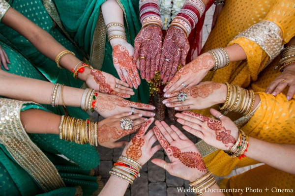 Indian-wedding-bridal-party-hands-portrait